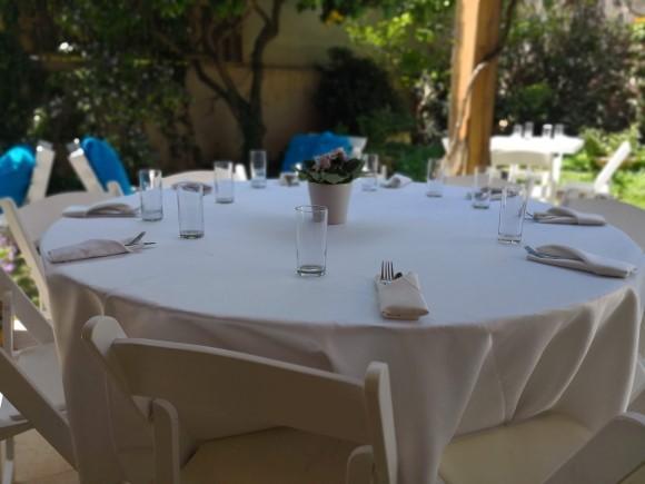 שולחן לסועד אירוע בטבע